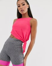 ASOS 4505 sheer tie top-Pink